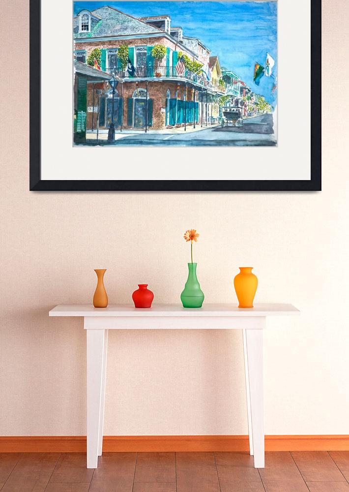 """""""New Orleans, Bourbon St.""""  by fineartmasters"""