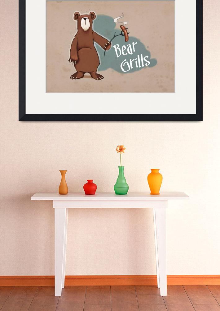 """""""Bear Grills""""  (2014) by Greenlitpete"""