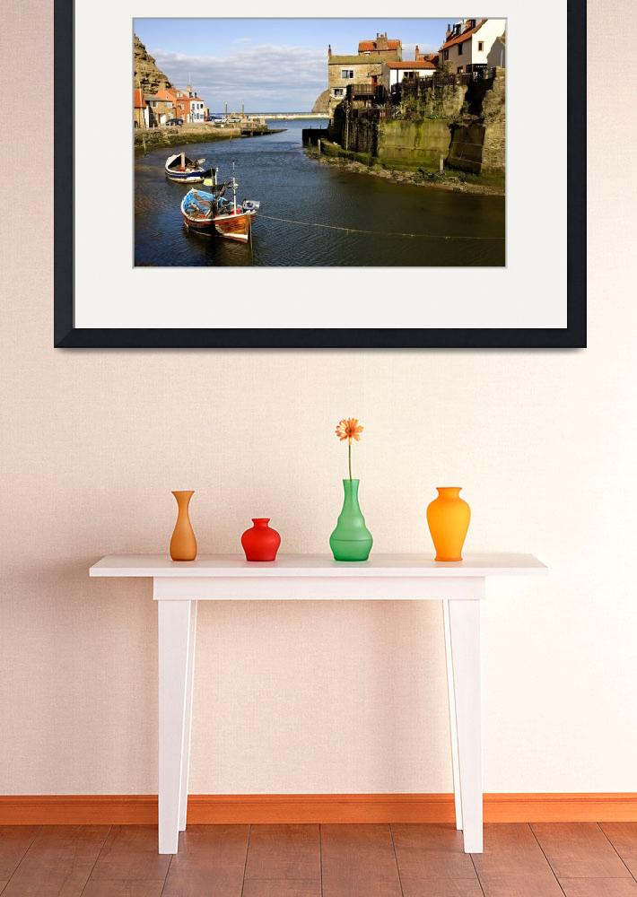 """""""Moored Boats In Staithes, North Yorkshire, England&quot  by DesignPics"""