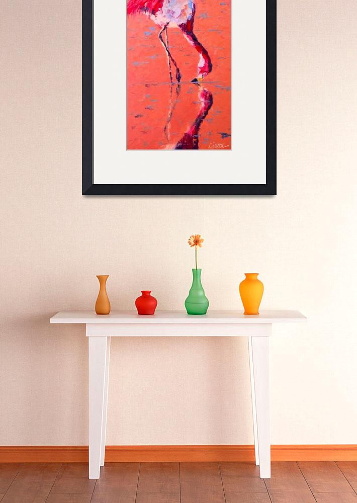 """Flamingo""  (2010) by LeslieSaetaFineArt"
