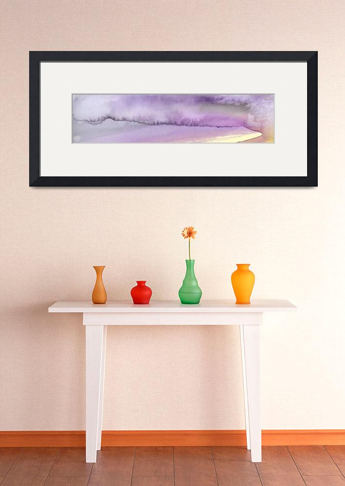 """""""Panoramic Watercolor abstract clouds 5""""  (2017) by GinetteCallaway"""