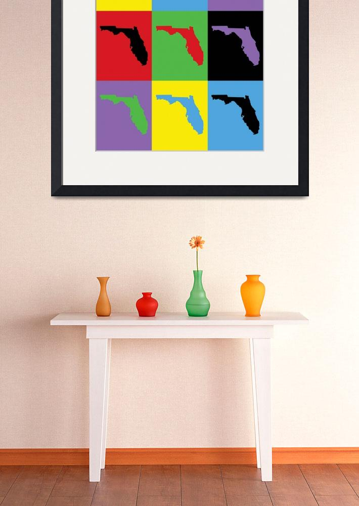 """""""Florida Pop Art Colorful""""  (2019) by ValeriesGallery"""