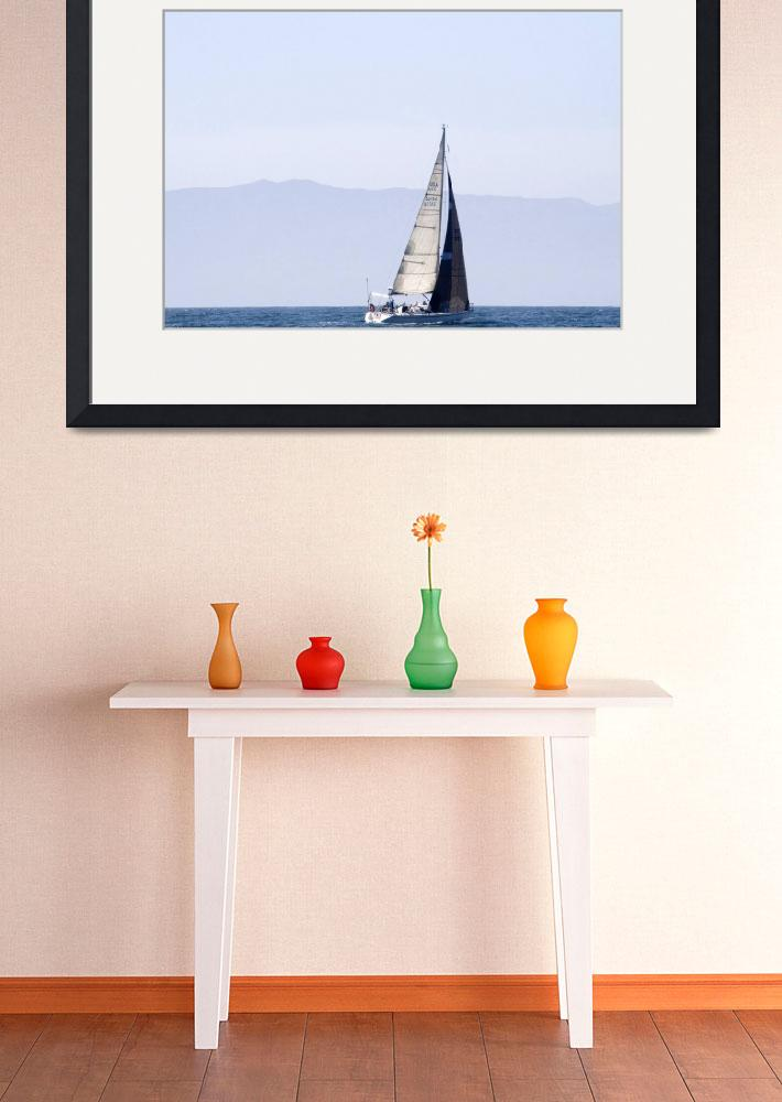 """""""Distant Sailboat""""  by Eileen"""