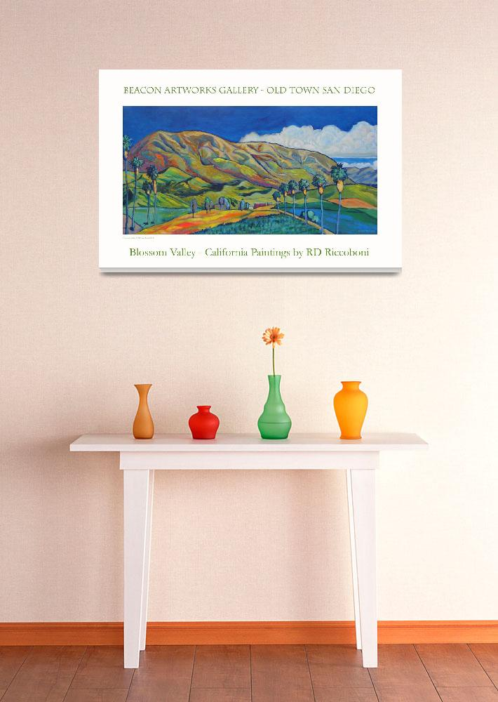 """""""Blossom Valley Beacon Artworks Poster&quot  by RDRiccoboni"""