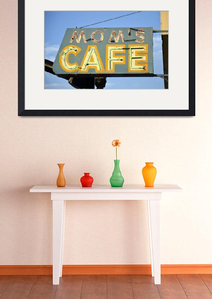 """""""Mom Cafe Neon Sign&quot  (2019) by cr8tivguy"""