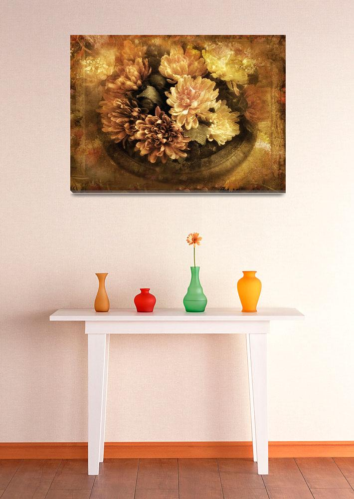 """""""Bordered Mums""""  (2009) by JessicaJenney"""