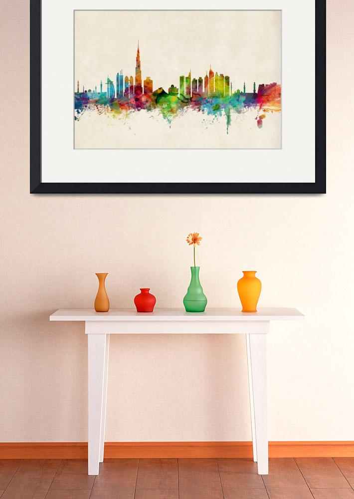"""Dubai Skyline""  by ModernArtPrints"
