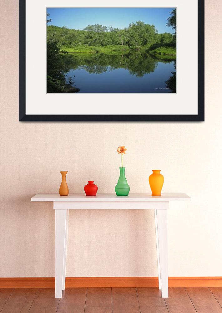 """""""River Reflection&quot  by HodlinGallery"""
