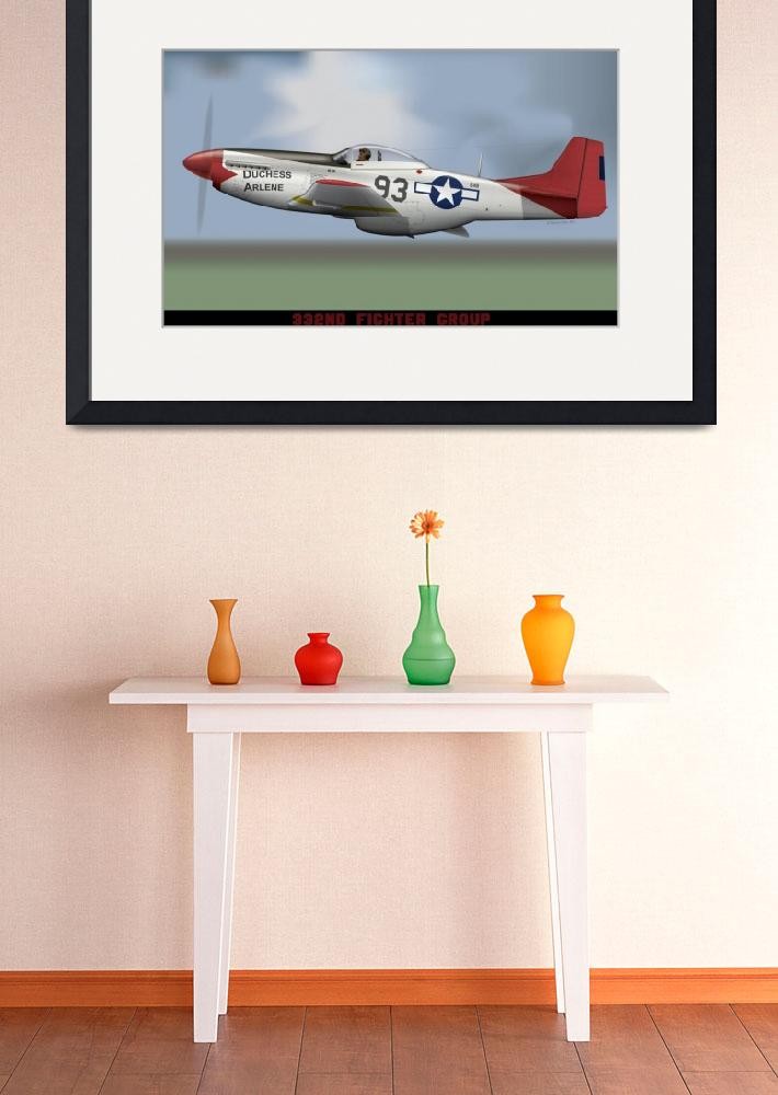 """""""P-51D of the 332nd Fighter Group, """"The Red Tails""""&quot  (2011) by Webbgrafx"""