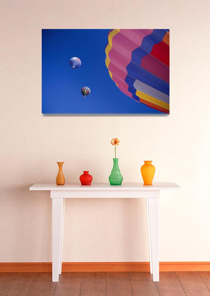 """Colorful Hot Air Balloons Against Cloudless Blue S&quot  by DesignPics"