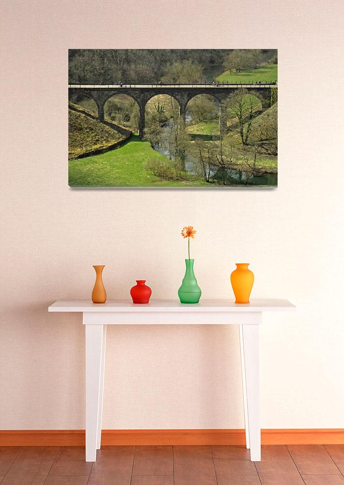 """""""Cyclists on the Headstone Viaduct (36235-RDA)""""  (2013) by rodjohnson"""
