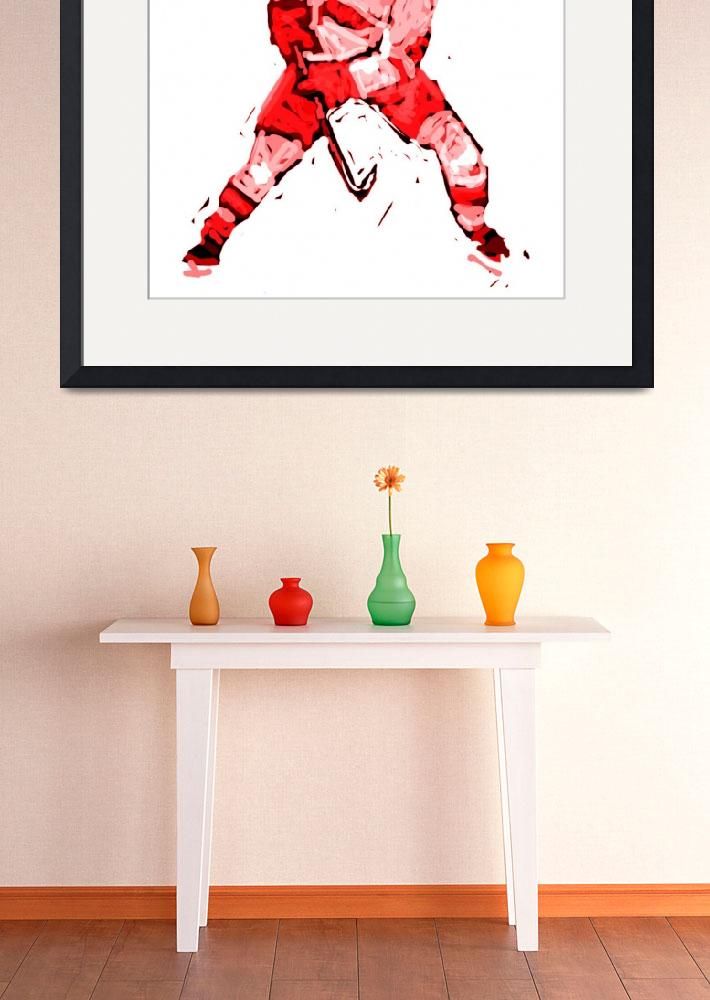"""""""Hockey Defenseman white red (c)&quot  (2014) by edmarion"""