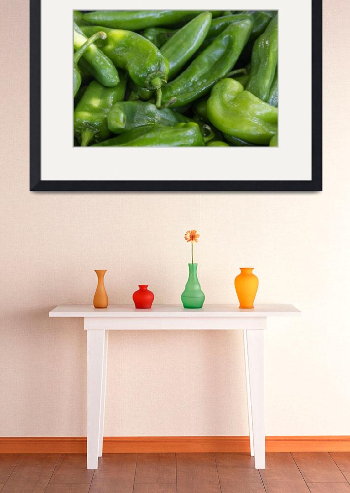 """Green Chile Peppers""  (2015) by lightningman"