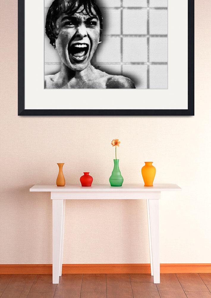 """""""Psycho By Alfred Hitchcock, With Janet Leigh Showe""""  by RubinoFineArt"""