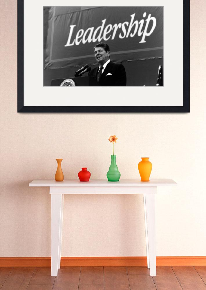 """""""President Ronald Reagan giving a campaign speech&quot  by stocktrekimages"""