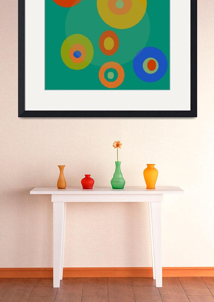 """Colorful Circles""  (2014) by bonniebruno"