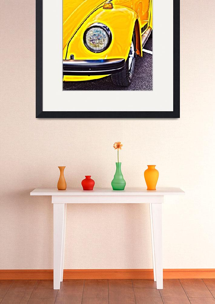 """Yellow VW Beetle Volkswagen&quot  (2015) by brianraggatt"