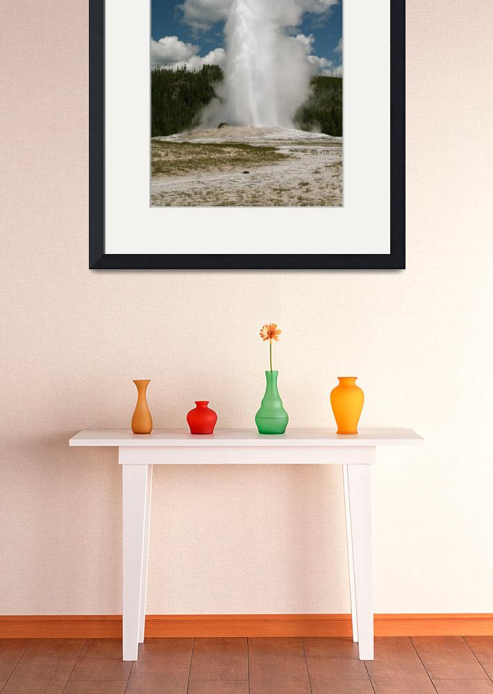 """Yellowstone Geyser&quot  (2006) by ByronMorrisArt"
