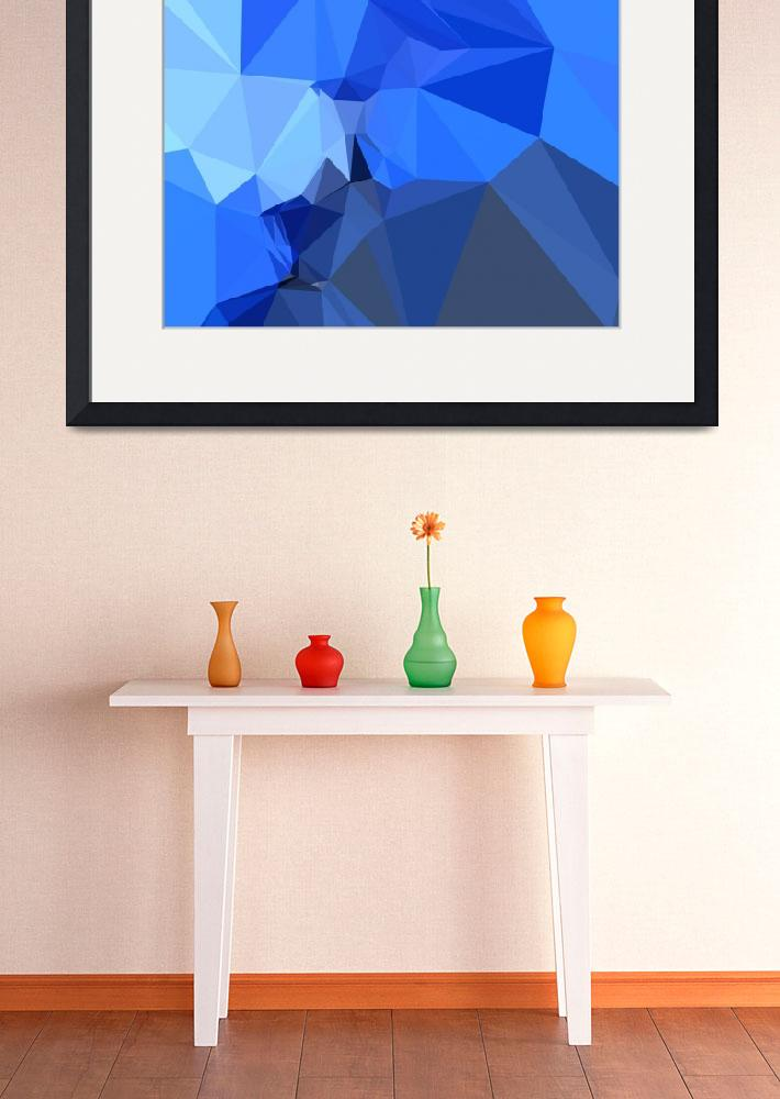 """""""Brandeis Blue Abstract Low Polygon Background&quot  (2015) by patrimonio"""