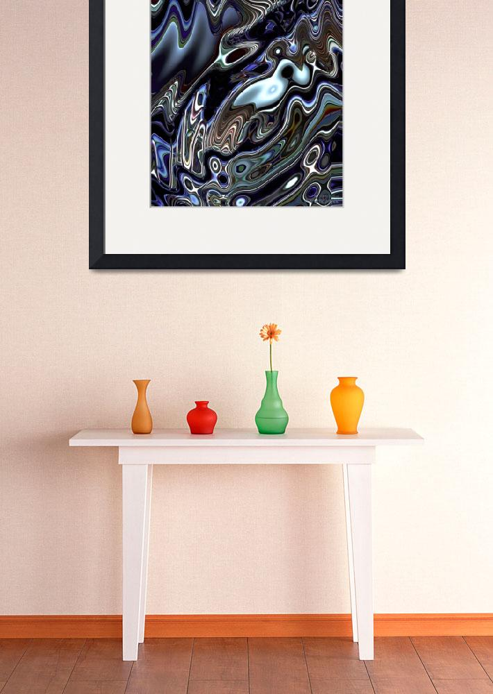 """""""Mechanical Fluidity Abstract - 08&quot  (2012) by WallArtDeco"""