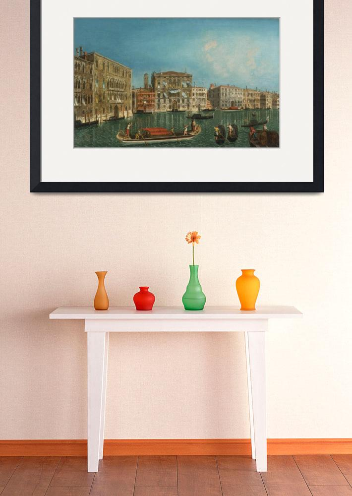 """Michele Marieschi The Grand Canal, Venice, With Pa""  by motionage"