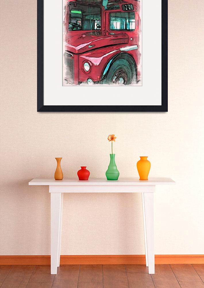 """Red Routemaster bus&quot  (2014) by paulstevens"