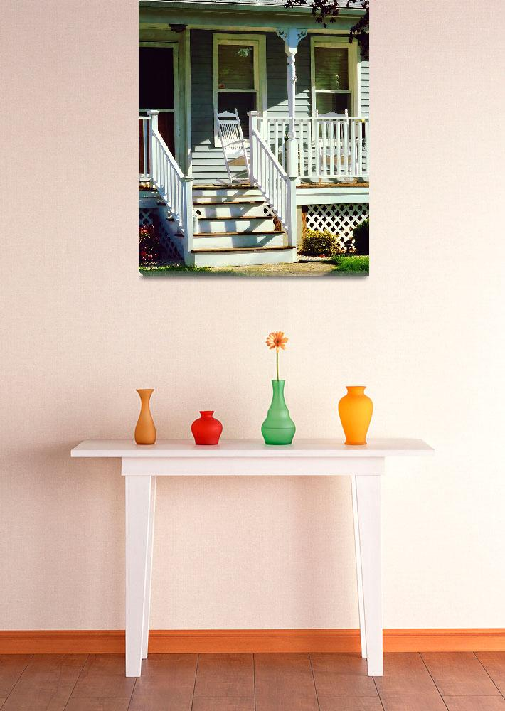 """""""White Rocking Chairs&quot  by susansartgallery"""