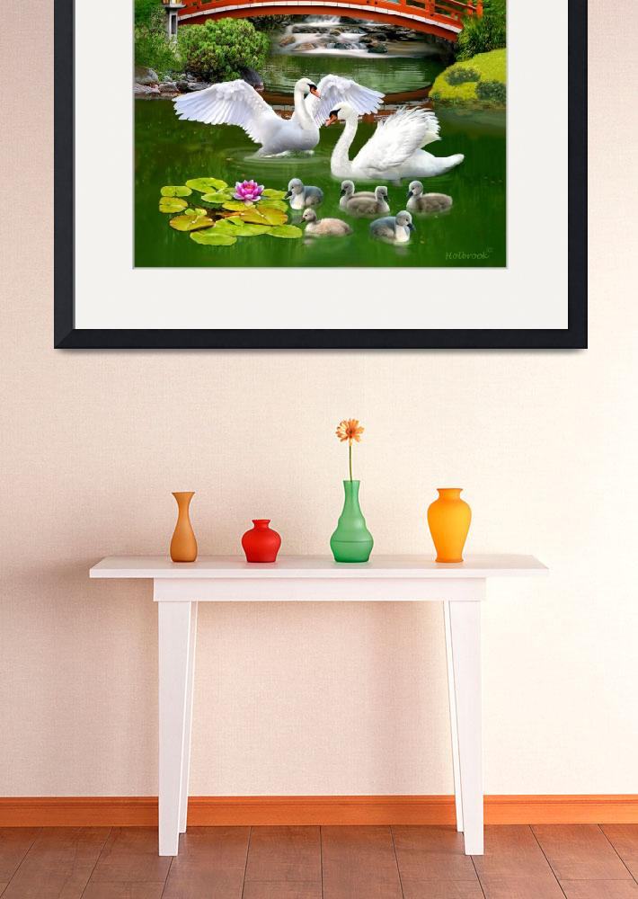 """""""THE SWAN FAMILY&quot  (2016) by HolbrookArt"""