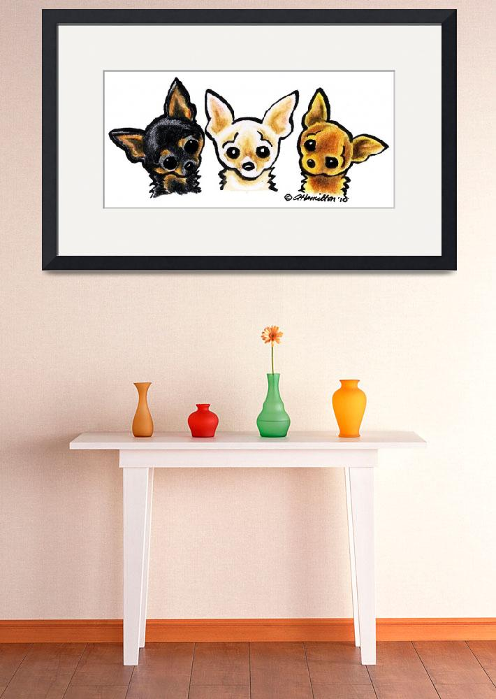 """Smooth Chihuahua Trio&quot  (2010) by OffLeashArt"