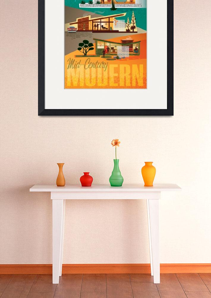 """""""Mid Century Modern Houses Poster&quot  (2016) by DianeDempseyDesign"""