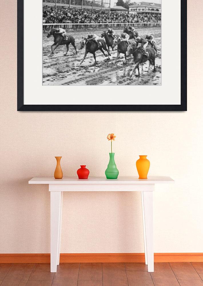 """""""Vintage Horse Racing Muddy Conditions&quot  by RetroImagesArchive"""
