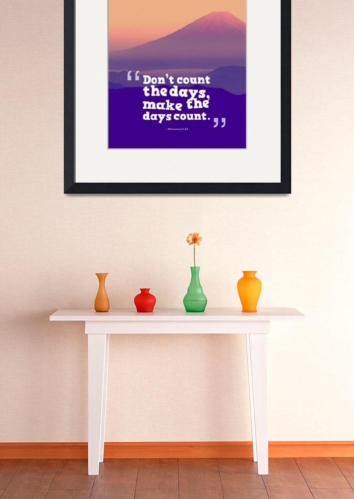 """""""Inspirational Timeless Quotes - Muhammad Ali&quot  by motionage"""