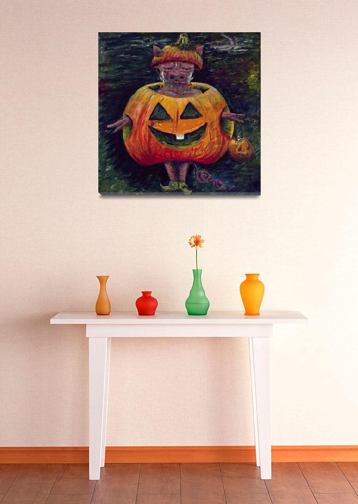 """Halloween Hog-SMALL""  (2009) by nadinerippelmeyer"