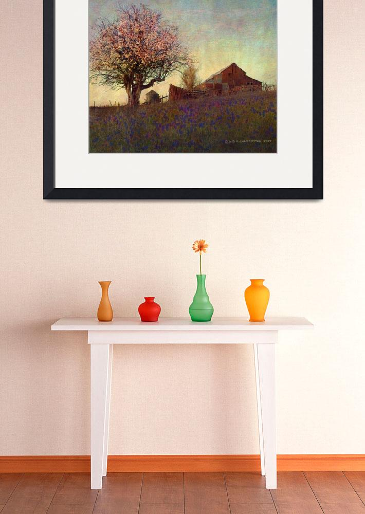 """""""barn on hill with apple tree&quot  (2014) by rchristophervest"""