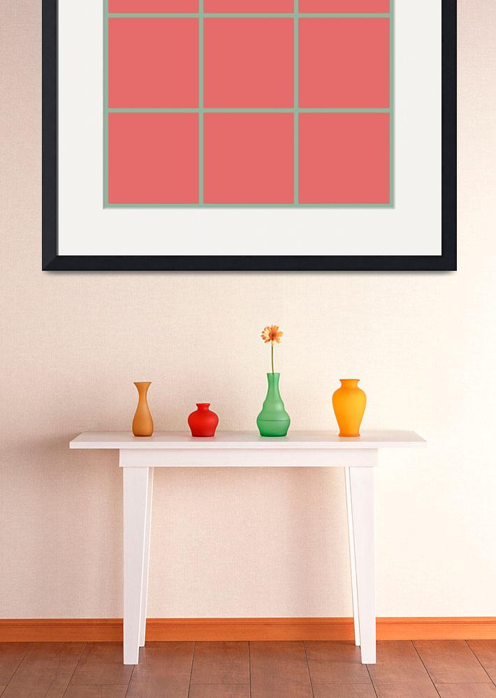 """""""Red Window 128 Canvas Contemporary Modern&quot  (2010) by Ricardos"""