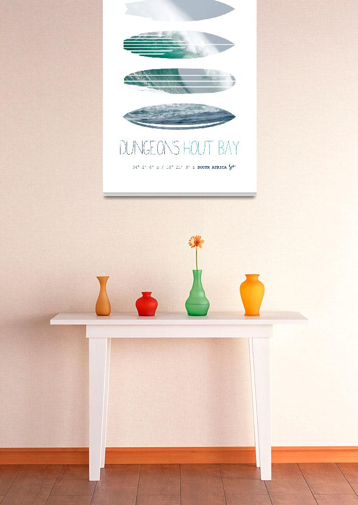 """""""My Surfspots poster-4-Dungeons-Cape-Town-South-Afr&quot  by Chungkong"""