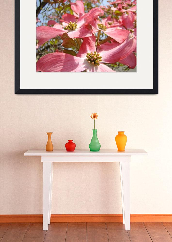 """""""Floral Fine Art Print Pink Dogwood Flowers Tree&quot  (2010) by BasleeTroutman"""