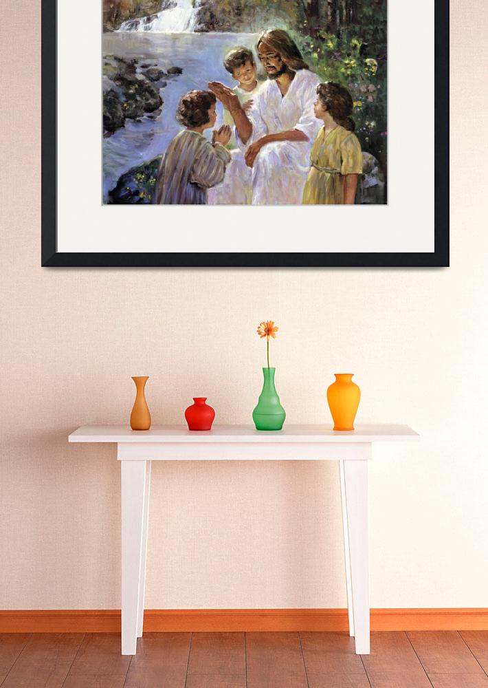 """""""Christ And The Children&quot  by artlicensing"""