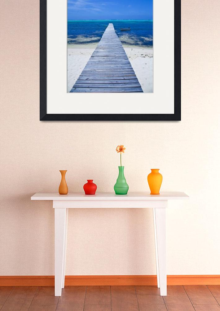 """""""Little Cayman Dock&quot  (2010) by charleslloyd"""