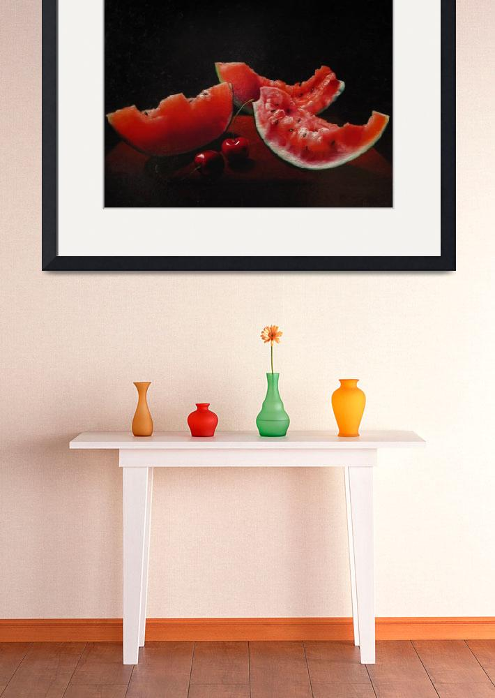 """""""watermelon and cherries&quot  (2009) by AtelierFineArtFlorence"""
