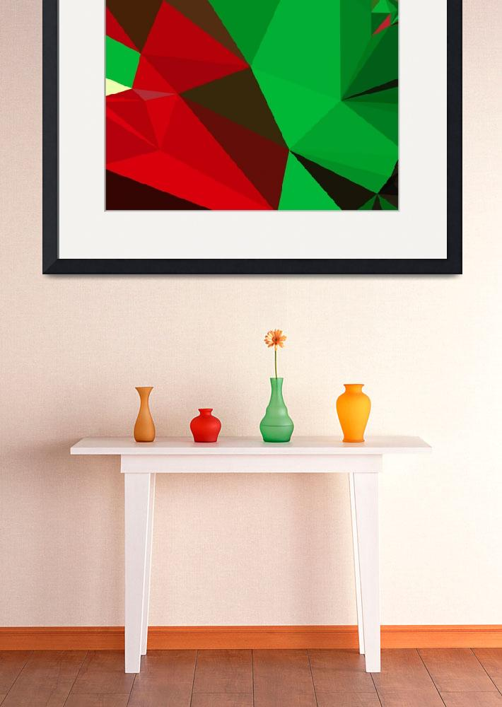"""""""Dark Pastel Green Abstract Low Polygon Background&quot  (2015) by patrimonio"""