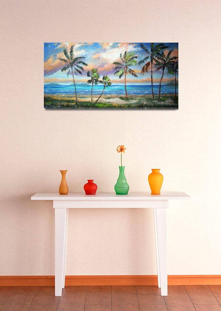 """Tropical Island Beach""  (2011) by mazz"