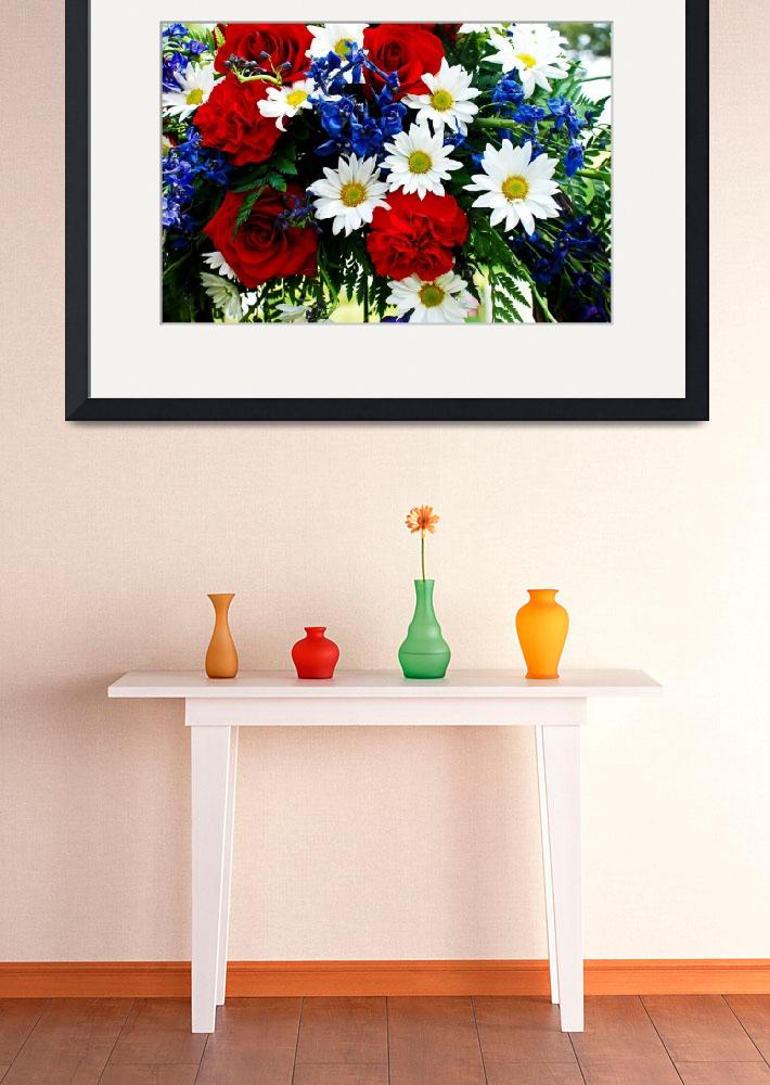 """""""Memorial Day Flowers&quot  (2011) by RoxannePonds"""