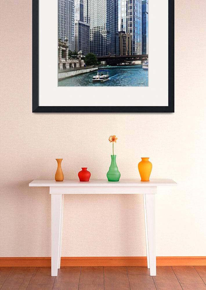 """Chicago IL - Chicago River Near Wabash Ave. Bridge&quot  by susansartgallery"