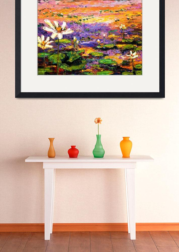 """""""Georgia Lily Pond Impressionist Painting""""  (2006) by GinetteCallaway"""