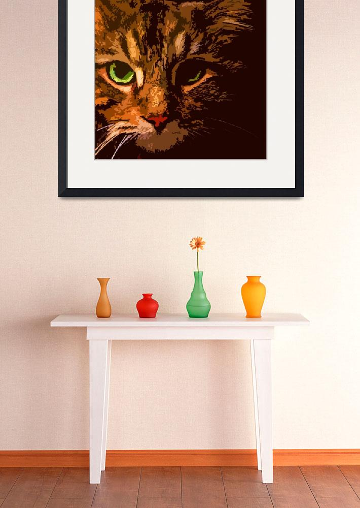 """""""Maine Coon Cat in Shadows&quot  (2008) by bztat"""