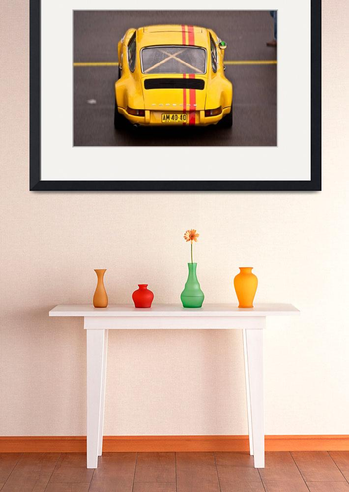 """Yellow Porsche&quot  (2010) by StuartRow"
