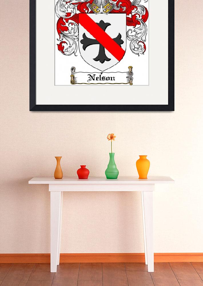 """""""NELSON FAMILY CREST - COAT OF ARMS&quot  by coatofarms"""
