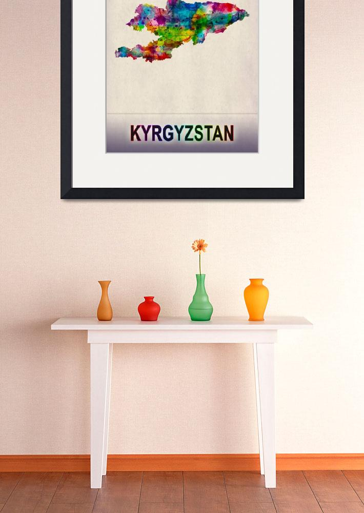 """""""Kyrgyzstan Map""""  by Towseef"""