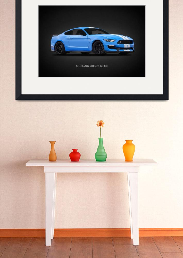 """Mustang Shelby GT350""  by mark-rogan"